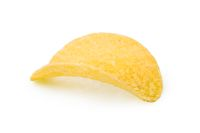 One crispy potato chip