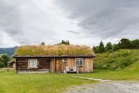 Traditional wooden houses in Norway
