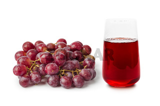 Glass of red fruit juice