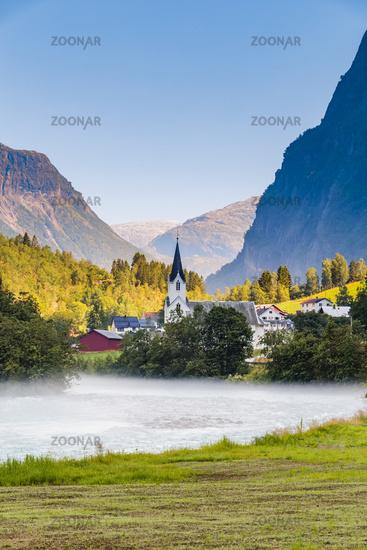 Fortun village in Norway