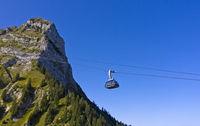 Seilbahn zum Moleson Gipfel, Moleson, Kanton Freiburg, Schweiz