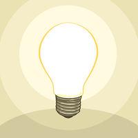 typical classic light bulb