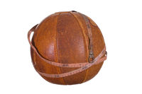 old ball with measure tape