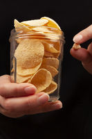 Healthy chickpea chips snack.