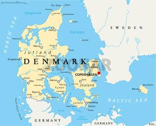 Dänemark politische Landkarte