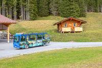 Oeschinensee electric car bus, Switzerland