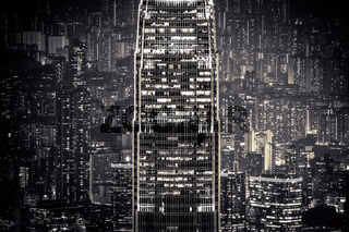 Abstract night cityscape. Hong Kong