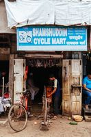 Colaba Causeway Market Bike Shop Mumbai India