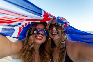 Two patriotic women celebrate Australia Day