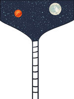 Stairway to space to the moon and Mars