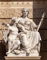 Allegoric sculpture of Europe