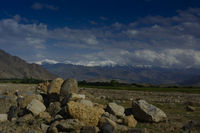 Schneebedeckte Berge in Nordafghanistan