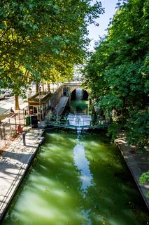 Lock on the Dock of la Villette, Paris, France