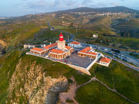 Aerial view of lighthouse at Cape Roca