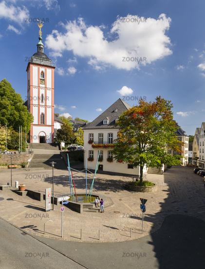 Marktplatz, Nikolaikirche, Rathaus, Siegen, NRW