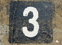 3 - weathered number