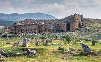 Hierapolis Ancient Theatre in Pamukkale, Turkey