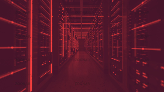 data center red lights alert