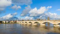 Pont du Maréchal Leclerc in Amboise, France