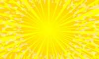 yellow background with sun rays