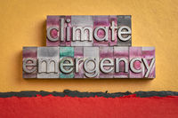climate emergency word abstract