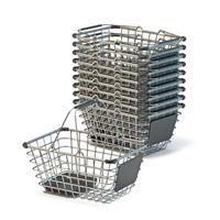 Metal shopping baskets 3D