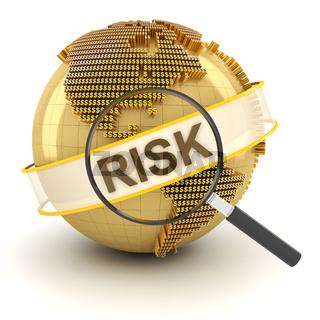 Analyzing global financial risk, 3d render