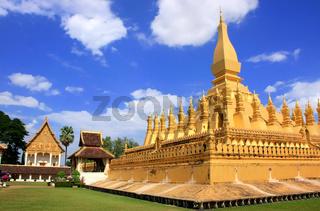 Pha That Luang stupa, Vientiane, Laos