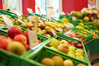 Obstbereich im Supermarkt