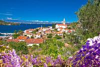 Zadar archipelago. Kali village on Ugljan island old architecture view