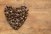 coffee heart on wood