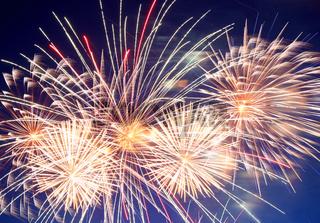 beautiful fireworks show