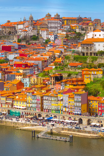 Porto, Portugal old town view with Douro river