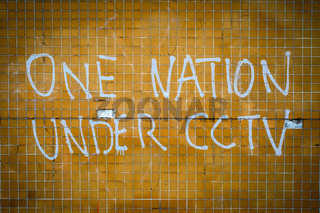 One Nation Under CCTV Graffiti