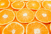 Background with orange slices, oranges texture, citrus