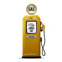 Yellow bright Gas station pump for liquid propane.