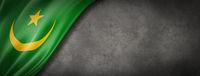 Mauritania flag on concrete wall banner