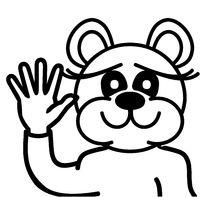 Lustiger Bär - winkend