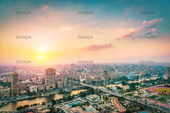 Cairo at sunset
