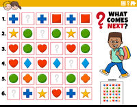 fill the pattern educational task for kids