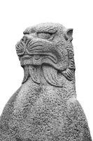 Japanese Mythological Animal Sculpture Isolated Photo