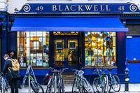 Der berühmte Buchladen Blackwell in der Historischen Stadt Oxford