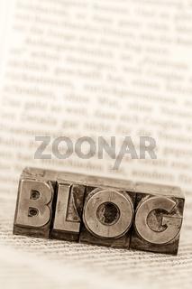 Blog in Bleibuchstaben