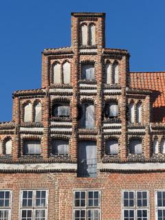 Lüneburg - Historischer Giebel in der Altstadt, Deutschland