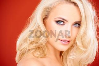 Stunning sensual blond woman