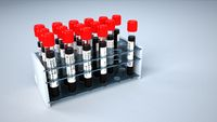 Corona Virus Test Tubes Rack