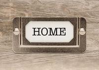Home Metal File Cabinet Label Frame on Wood