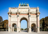 Triumphal Arch of the Carrousel and Tuileries Garden, Paris, France
