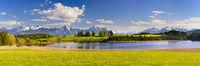 Panorama Landschaft im Allgäu mit See