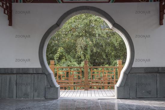 Chinese garden entrance